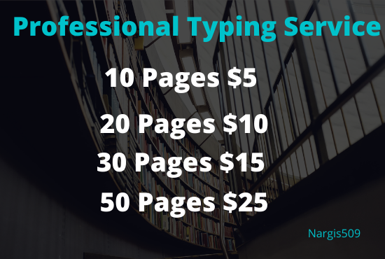 I will do professional typing job,  data entry work,  PDF to word for you