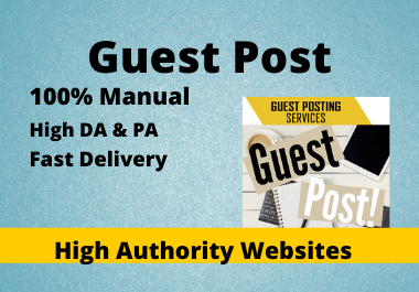 Write & Publish 10 Guest Posts High Authority DA 50+ Website Unique Content relevant backlinks.
