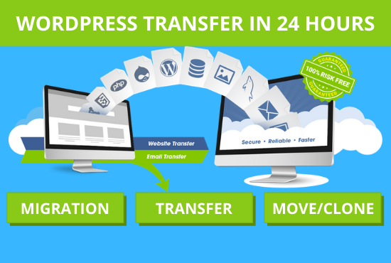 I will transfer your wordpress site in 24 hours