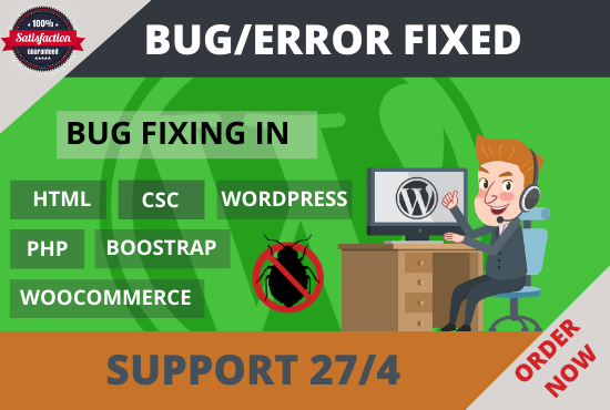 I will fix your wordpress website bug or error just 1 hour