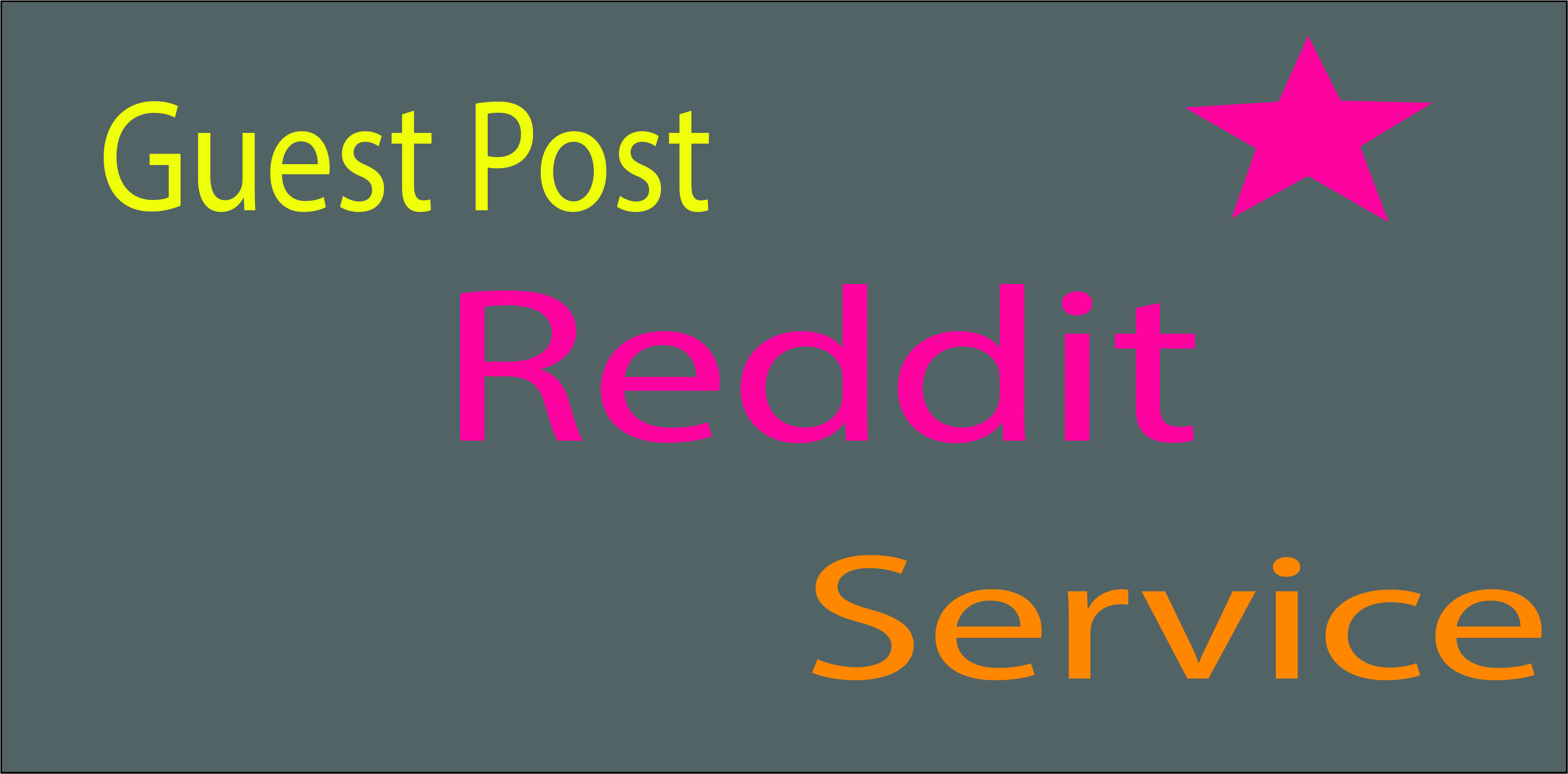 I will create guest post backlinks on Reddit com