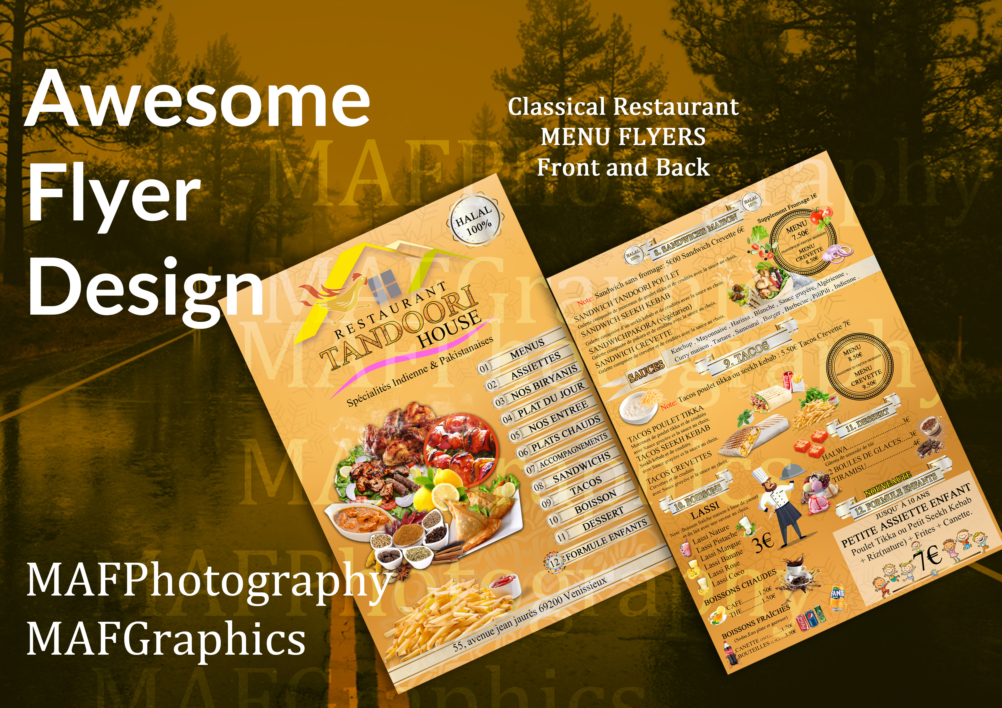 I will design your poster or flyer in French or English Franç ais et anglais