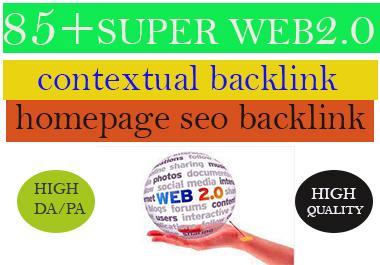 i will build 20 super homepage web 2.0 backlinks