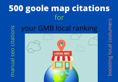 i will provide 500 google map local citations and optimize google rank 1