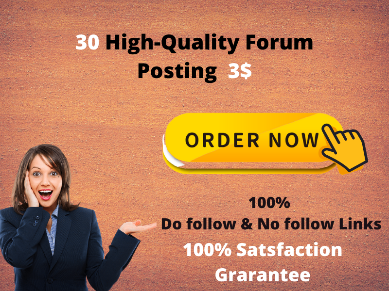 I will create 30 HQ Froum Posting manually in SEO Backlinks