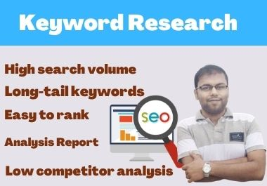 I Will Provide SEO Friendly Keywords Research For Your Website Ranking