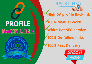 I will Create 100+ Do Follow Profile Backlink for SEO.