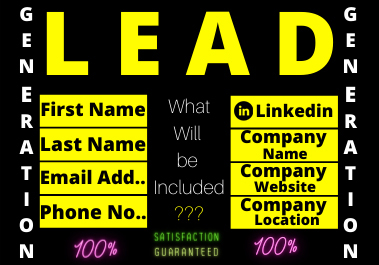 I will give you 100 valid Leads