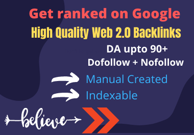 Get Top Ranked in Search engine With 2.0 Backlinks