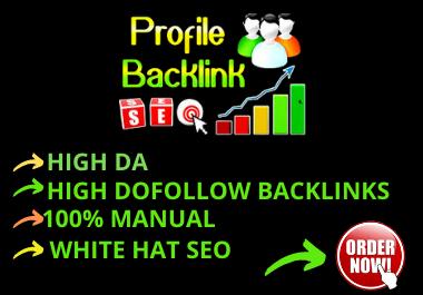 I will create 150 High DA Profile Backlink.