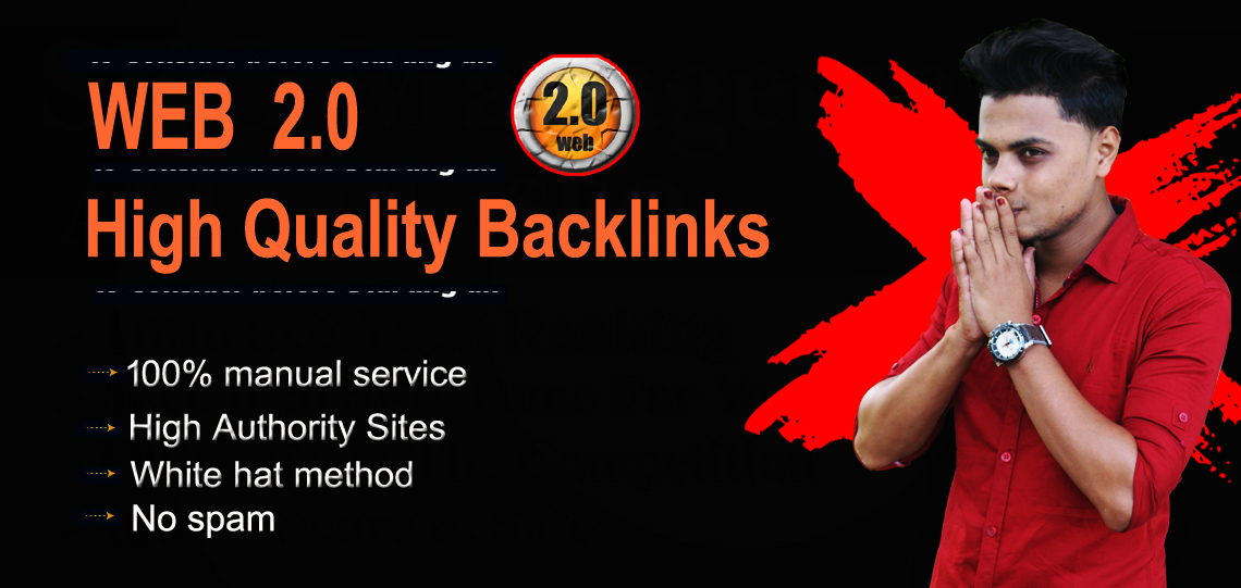 I will create web 2.0 high authority backlinks for top ranking