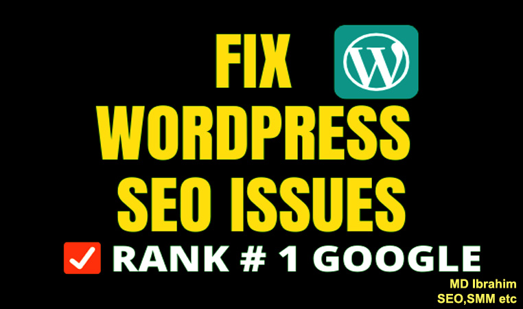 I will fix wordpress SEO issues for top google ranking