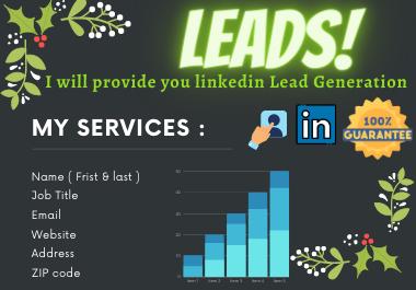I will provide you B2B targeted linkedin lead generation
