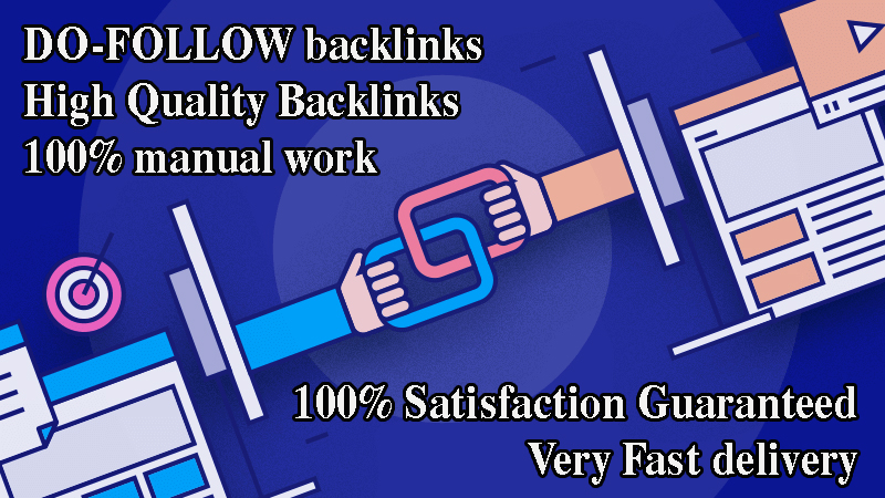 50 DO-FOLLOW backlinks from 100+ high DA
