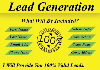 You Will Get 100 Percent Valid Leads From Me