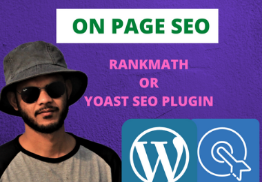I will provide Word press on page SEO with rank math and yoast seo plugin