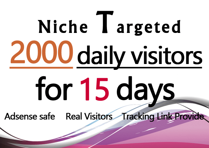 Real Organic Niche Targeted Traffic To your web site for 15 Days
