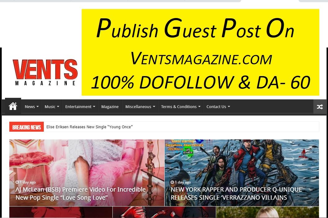 Publish Content on Google news approval site VENTSMAGAZINE. COM