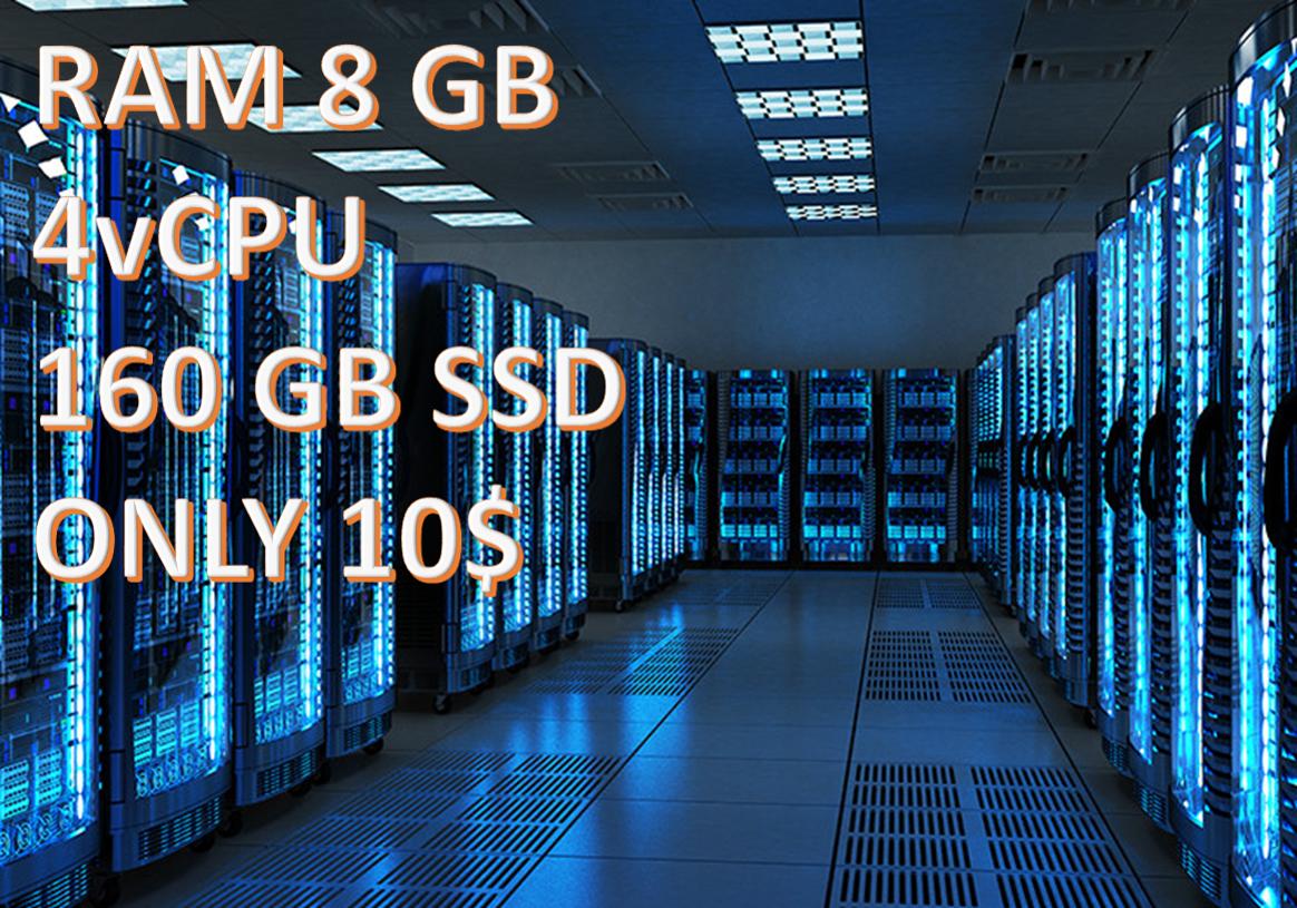 Provide VPS RAM 8GB CPU 4 CORE