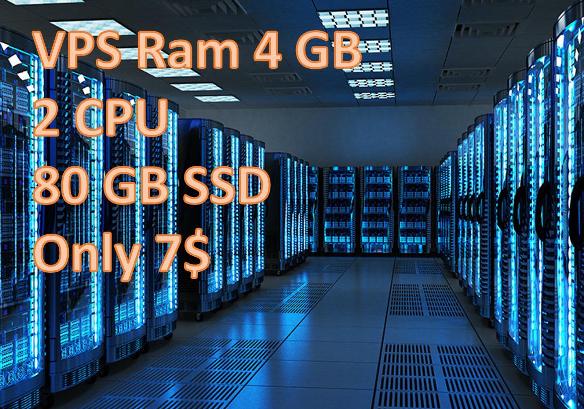 Provide VPS RAM 4GB CPU 2 CORE