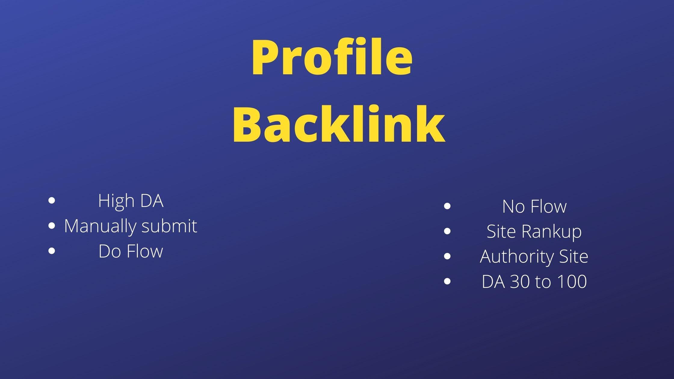 Rank On Google With Massive Authority Profile Backilnks 250+