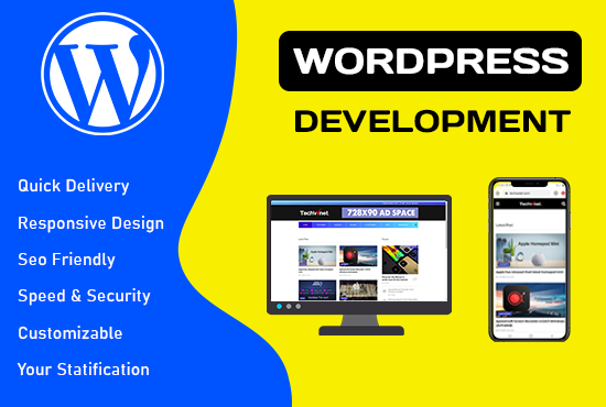 create a responsive wordpress website or wordpress design