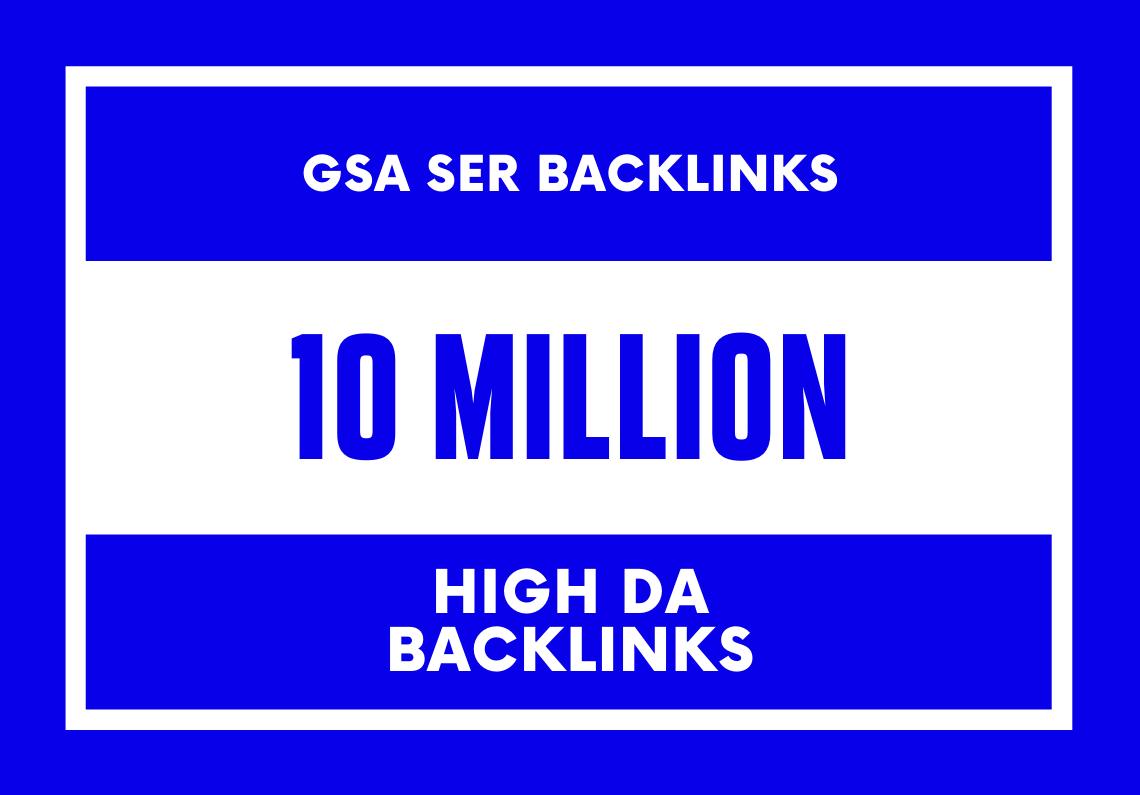 I ll make 10 million High quality dofollow backlinks for websites, blogs, videos, web stores