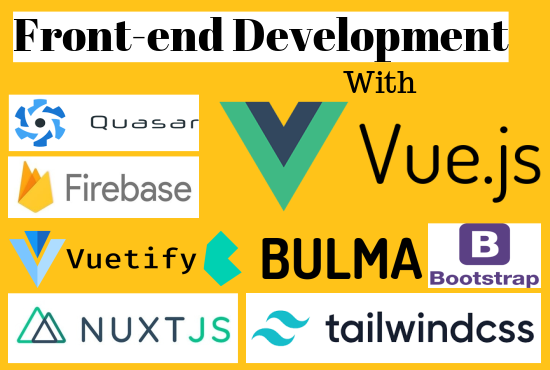 I will build web application,  front end with vuejs and nodejs