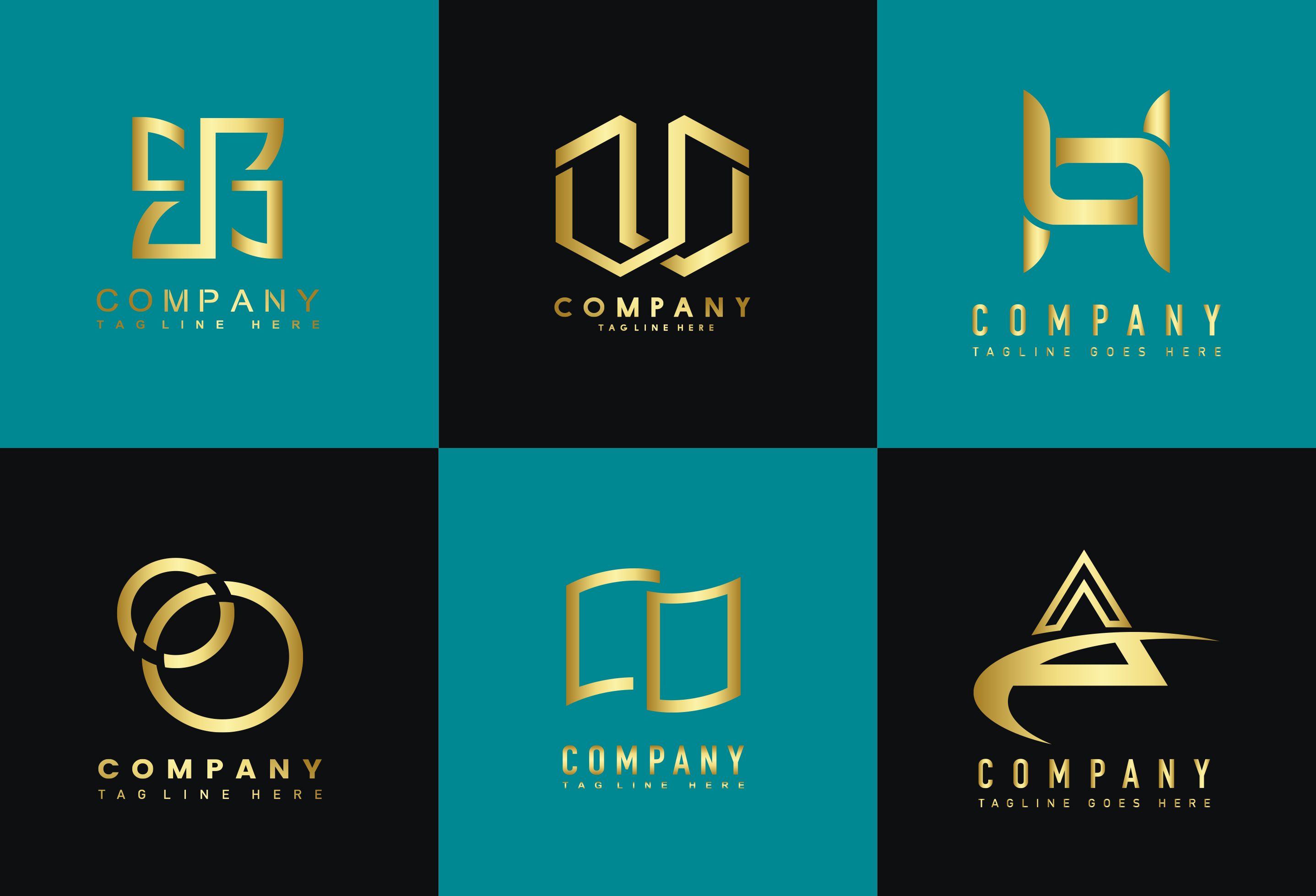 I will make modern flat minimalist logo and branding design