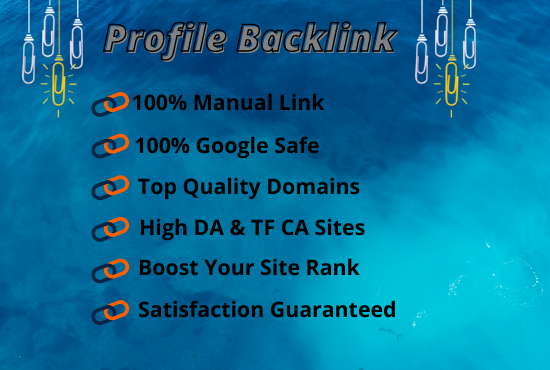 I Will Make 100 Manual Profile Backlinks High Authority Websites