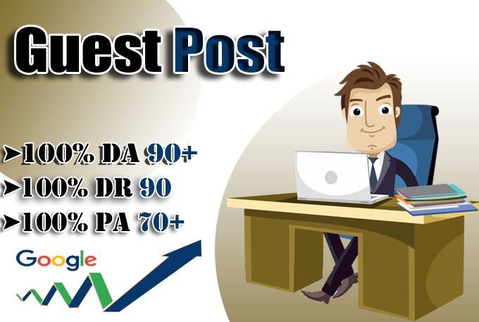 Publish 5 Guest Post on DA 90+ sites with Permanent Post