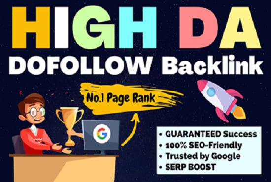 I will create 50 high da dofollow SEO backlinks lifetime google rank