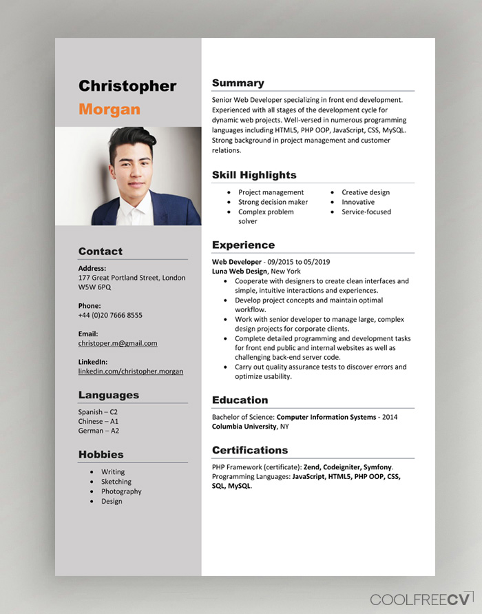 I will do resume design of different design or CV maker