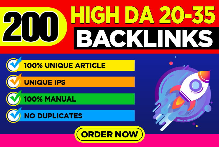 Create 200 Unique Article Domain Backlink For Increase Your Site Ranking On Google