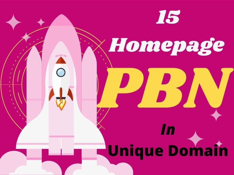 Get Top Rank by 15 Homepage PBNs Backlinks on High DA/PA Site