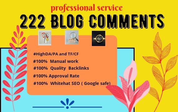 I Will Do 200 High Authority SEO dofollow Blog Comment Backlinks