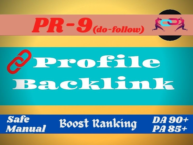 I will be your pr9 profile backlinks creator to get 1st page
