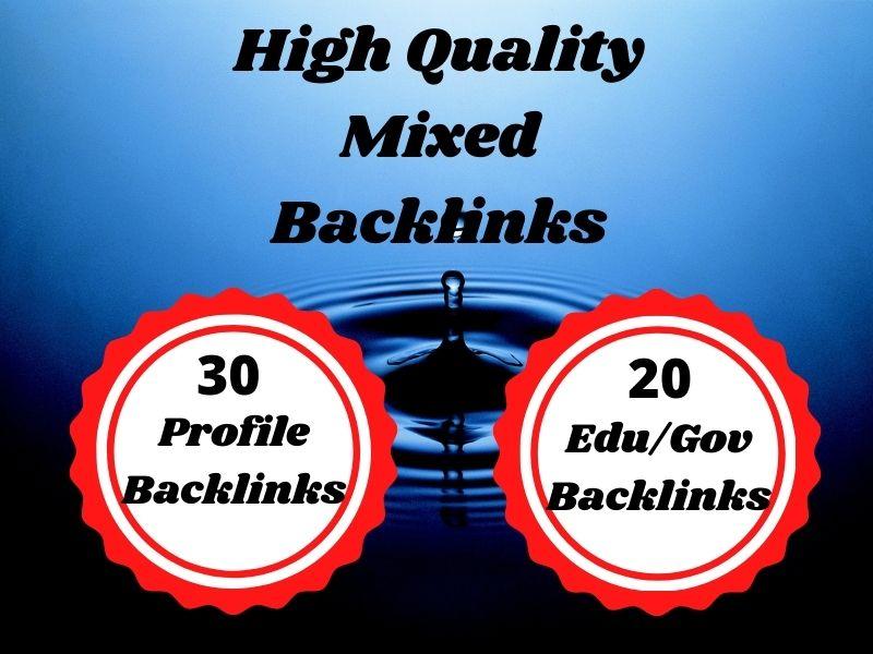 Build 50 edu and profile backlinks for manual SEO link building