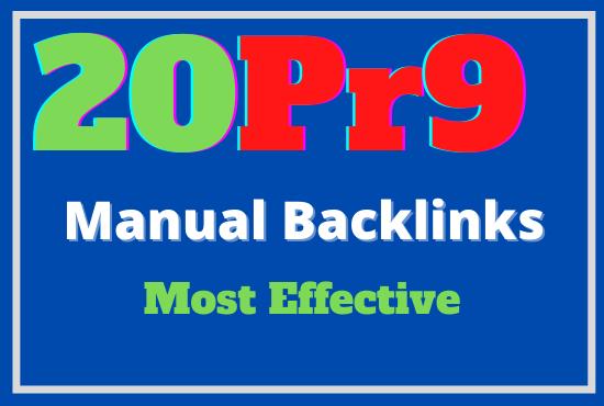 DA 80 plus 20 pr9 Dofollow High Quality Backlinks