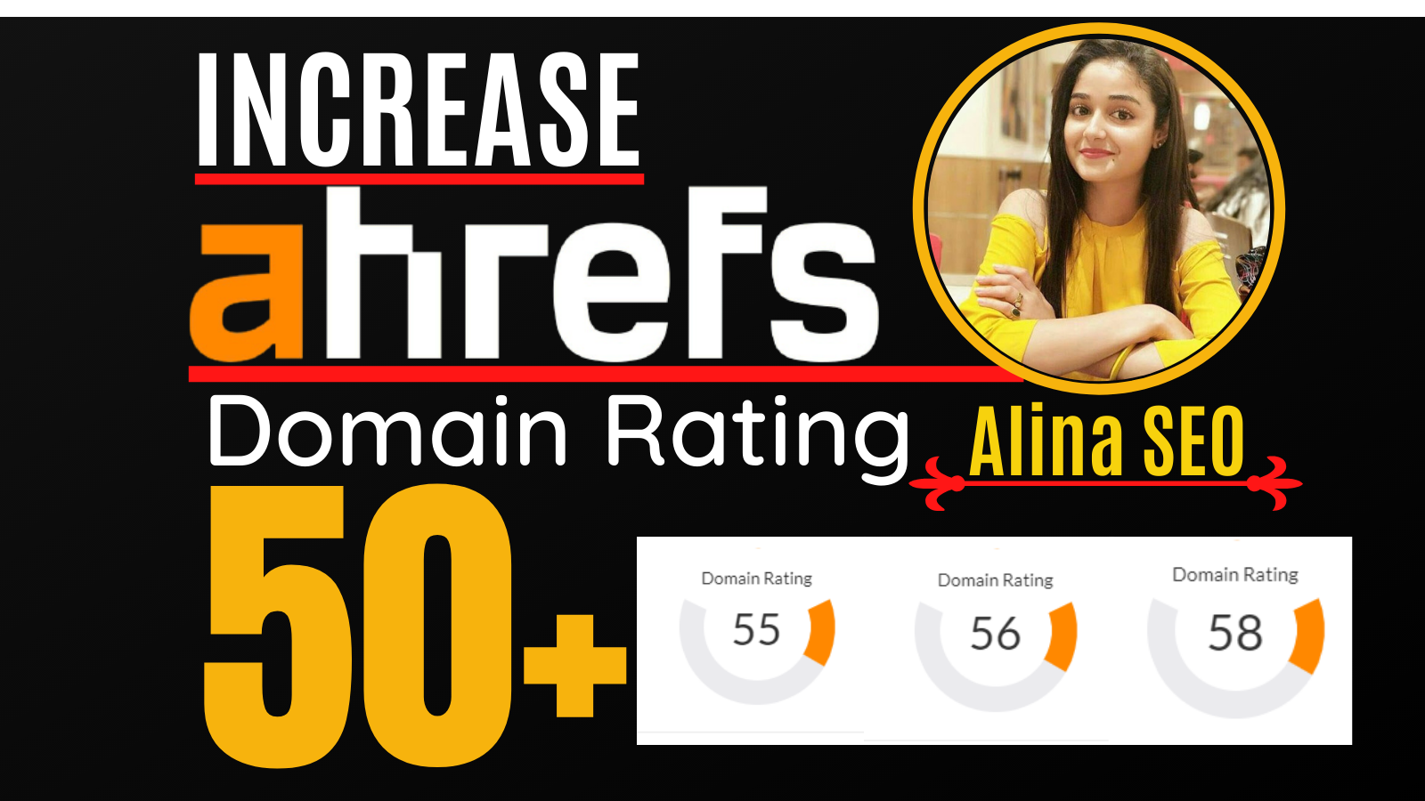 increase domain rating,  ahrefs DR 50 plus with white hat SEO Method
