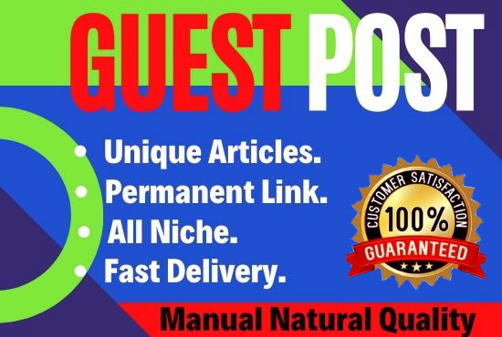 10 Guest Posts Write and Publish on DA 90+ unique article high Authority website Permanent Backlinks