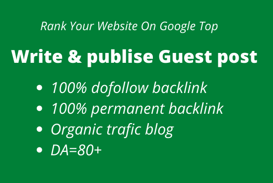 Write and publish 5 guest posts on high quality website DA 80+