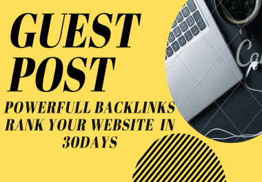 Get 15 guest post real and unique article & unique sites