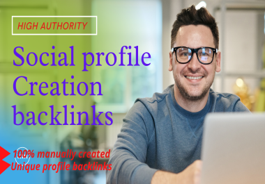 I will create 50 High-Quality profile creation backlinks & promote your website