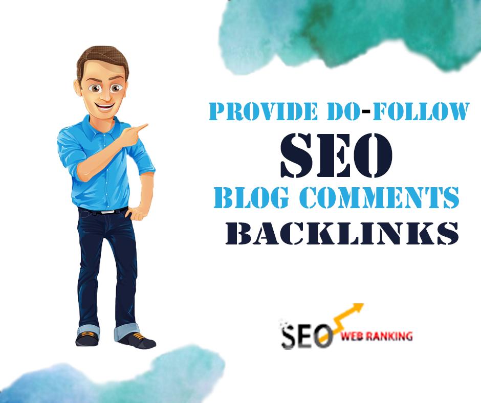 I will provide 1000 dofollow seo blog comments backlinks