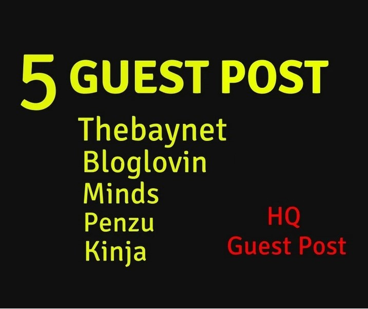 do 5 unique guest posting on da or dr90 real blog sites