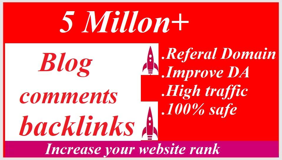 I will do 5 million gsa,  dofollow,  blog comment backlinks for website ranking