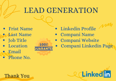I will do B2b lead generation for your business.
