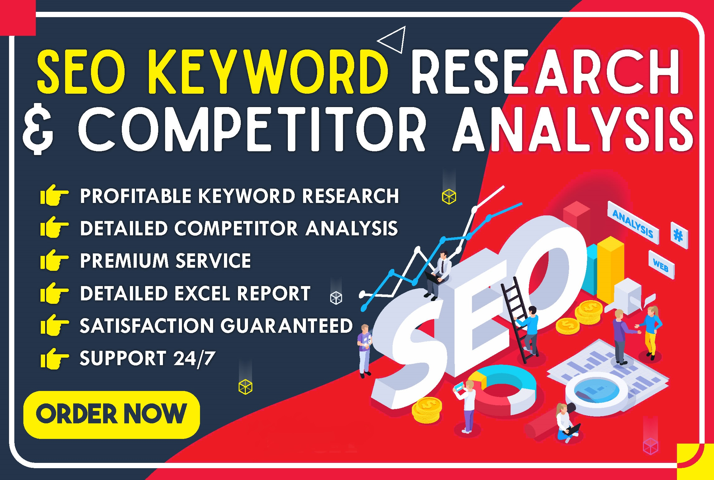 I will do some lucrative SEO keyword research and competitor analysis