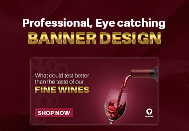 I'll Design professional attractive web banner and post design